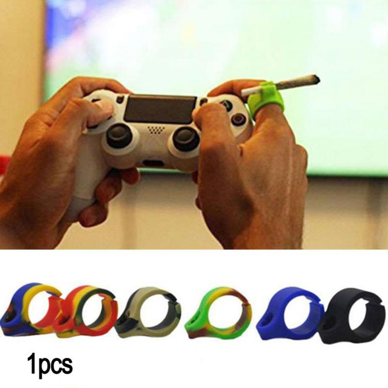 1Pcs New Design Silicone Ring Finger Hand Rack Cigarette Holder For Regular smoking Accessories Drop shipping