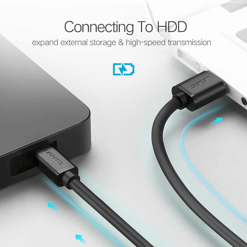 UgreenสายเคเบิลมินิUSB USBข้อมูลสายชาร์จสำหรับMP3 MP4 ผู้เล่นรถDVR GPSดิจิตอลกล้องHDD Mini USB