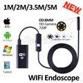 HD720P 8 мм Объектив WIFI Камеры Эндоскопа 5 М 3.5 М 2 М 1 М Змея USB Iphone Android Бороскоп IOS Tablet Беспроводной Бороскоп Камеры