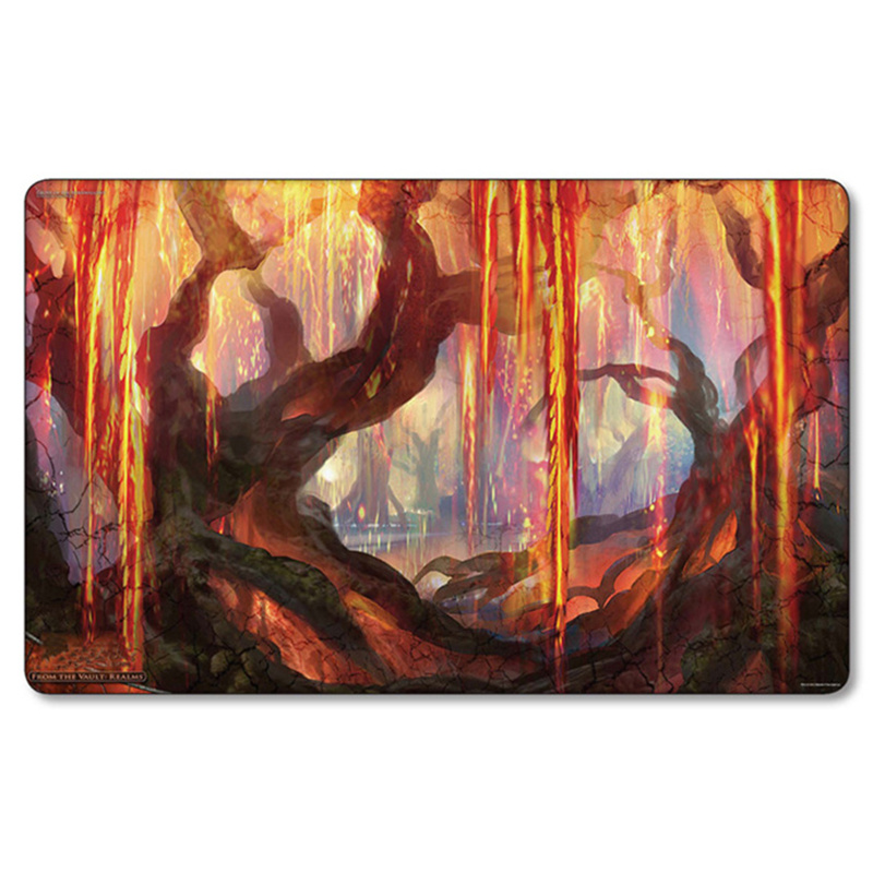 Magic Board grove of the burnwillows Angel Wings mgt Playmat Table pad Game card Lands ygo tcg Cards Playmats with storage bag