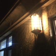 Vintage European style outdoor wall lamp coffee shop hotel corridor wall sconce retro waterproof outdoor light outside lights