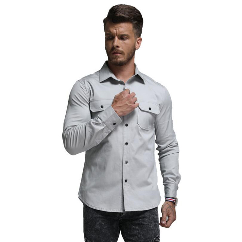 2018 Frühling Sommer Hohe Qualität Mann Hemd Männer Kleid Casual Shirts Mit Langen Ärmeln Für Männer Designs Langarm Hemd Kleid Duftendes Aroma