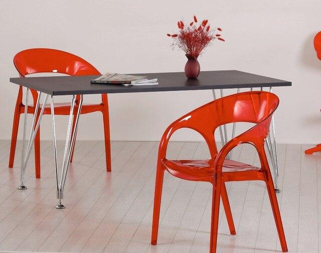 Modernes Design Transparent Stuhl Acryl Polycarbonat PC Kunststoff Stuhl  Modernes Design Mode Esszimmer Cafe Stapelbar Klassische