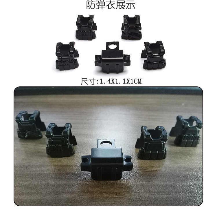Legoing Militare Swat Arma Pistole Pacchetto di Polizia Della Città Soldato Del Costruttore Serie WW2 Esercito Accessori MOC Blocchi di Costruzione Giocattoli Legoings