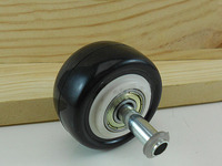 1 5 Inch Wheels Slip Resistant Furniture Casters Mute Polyurethane Casters Diameter 40MM KF505