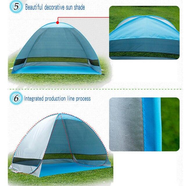 אוהל חוף מתקפל ופתיחה אוטומטית 3