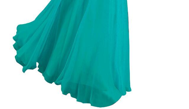[Распродажа] шифоновое вечернее платье Длинное Элегантное длинное вечернее платье с блестками и бисером на шнуровке сзади милое - Цвет: Blue 02