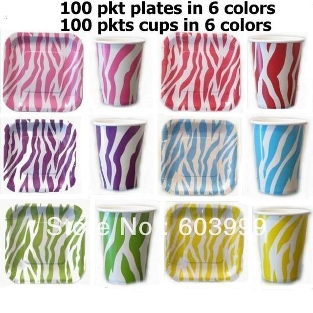 2400 x Jungle Animal Print Zebra Stripe TABLEWARE Paper Party Square Dessert Plates Cups Shower Birthday  sc 1 st  AliExpress.com & 2400 x Jungle Animal Print Zebra Stripe TABLEWARE Paper Party Square ...