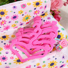 20 Pcs/Lot Mix Cute Pink Hangers Dress Accessories Clothes For Baby Doll Outfit Skirt Shoes Pretend Play House Girls' Gift Toy(China)