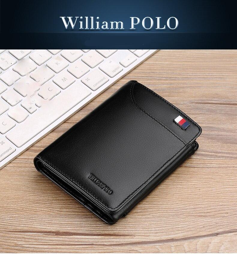 Williampolo famosa marca de moda 3 bifold