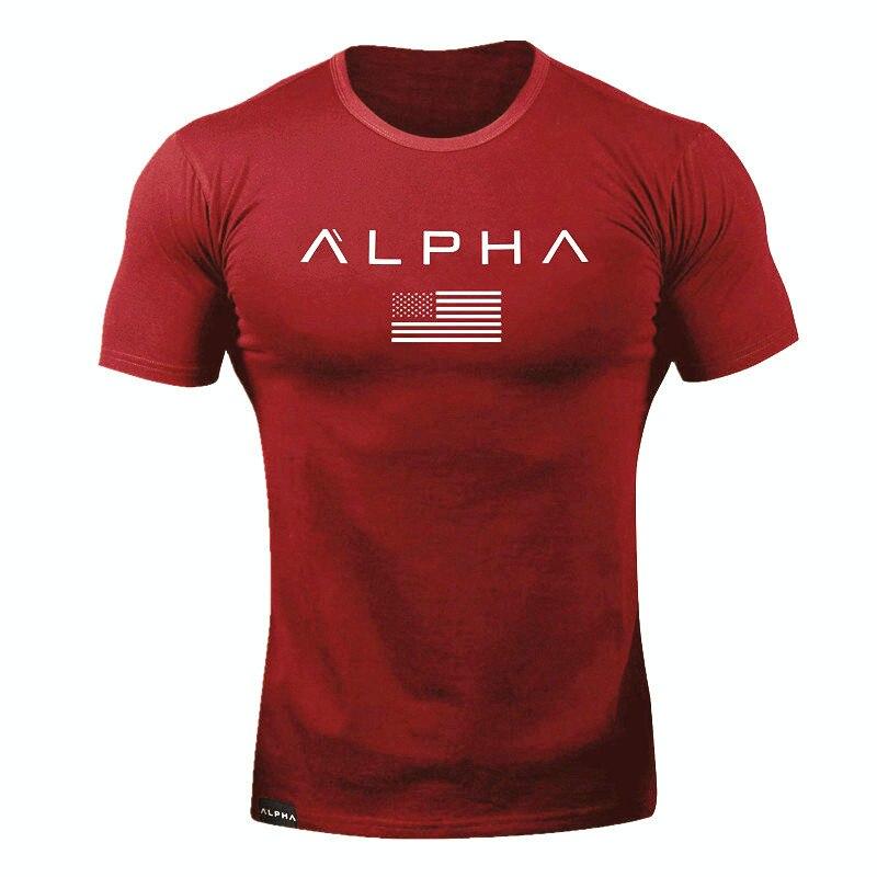 alpha t shirt red