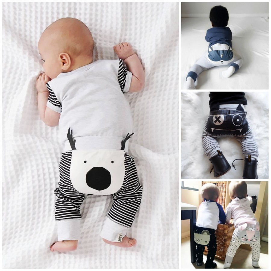 Emmababy Autumn Baby Long Cartoon Pants 0-24M Newborn Baby Harem Pants Cartoon Leggings Warm Cotton Long Pants For Babys