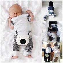 Emmababy Autumn Baby Long Cartoon Pants 0-24M Newborn Baby Harem
