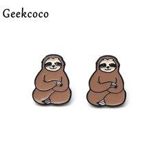 Lazy Sleepy Sloth Creatives minimalism earrings for Women Lovely Earrings Girls Earring Stud Accessories Cartoon Jewelry J0307