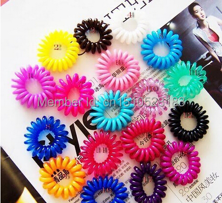 Free shipping! 50pcs/lot New Telephone cord phone strap hair band hair rope hair accessory ponytail holder hair holder