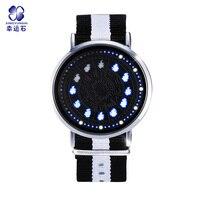 Saint Seiya Constellation LED Touch Screen Watch 12 Zodiac Signs Theme Waterproof Wrist Watches Virgo Taurus