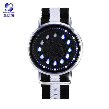Reloj LED de constelación de Saint Seiyas con 12 signos del zodiaco, relojes de pulsera impermeables, regalo de Navidad Virgo Taurus Leo