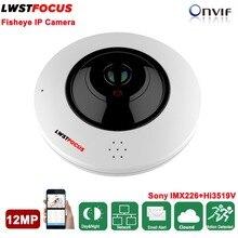 12MP Kamera Fisheye IP Czytnik Kart Sd Kamera IP 2 Opcjami Audio pełna Szeroki Kąt Widzenia 12MP 1.77 MM Obiektyw Kamery IP Onvif kamera Bezpieczeństwa