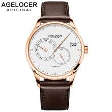 AGELOCER Mens Watches Top Brand Luxury Automatic Mechanical Men's Fashion Watch Men Wristwatches Waterproof Relogio Masculino стоимость