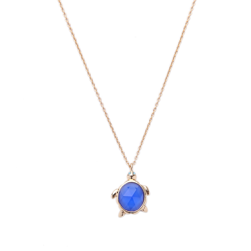 New Trending Animal Pendant Necklace Simple Fashion Small Tortoise Necklace for Girls Gift
