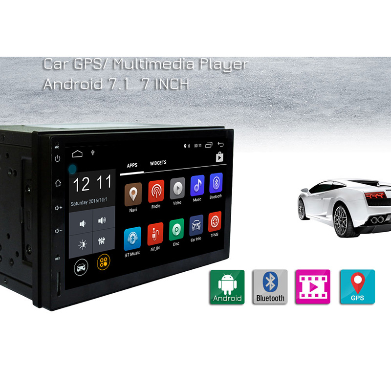 RM - CT0009L 7'' GPS Car DVD Player Android 7.1 Car MP5 Players Bluetooth WiFi Car Multimedia Player Rear view camera FM Video подушка 40х40 с полной запечаткой printio картина