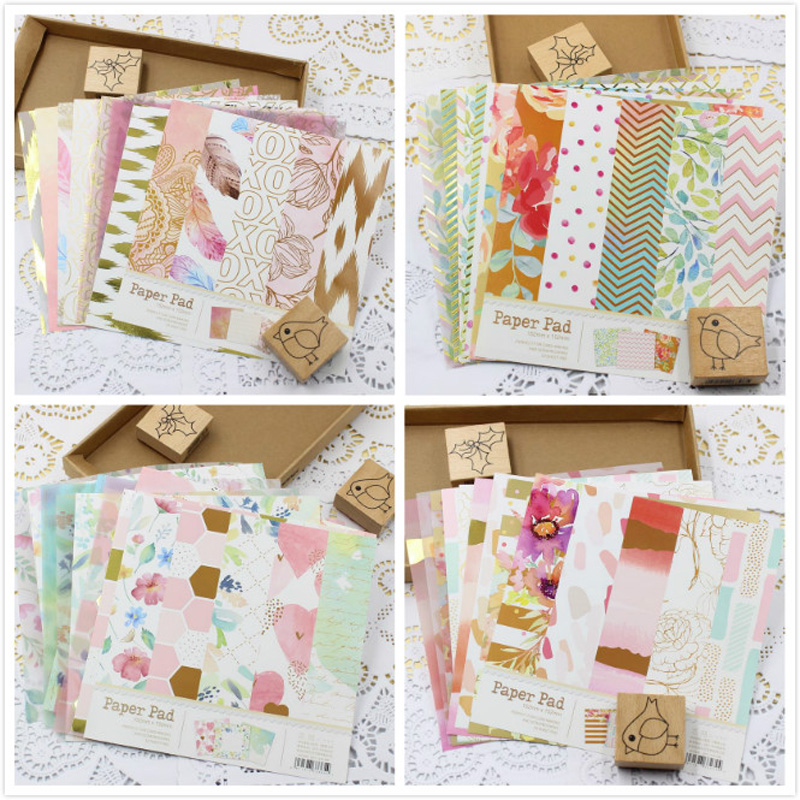 KLJUYP 10 Sheets Lovely Series Material Paper Set For Scrapbooking DIY Projects/Photo Album/Card Making Crafts