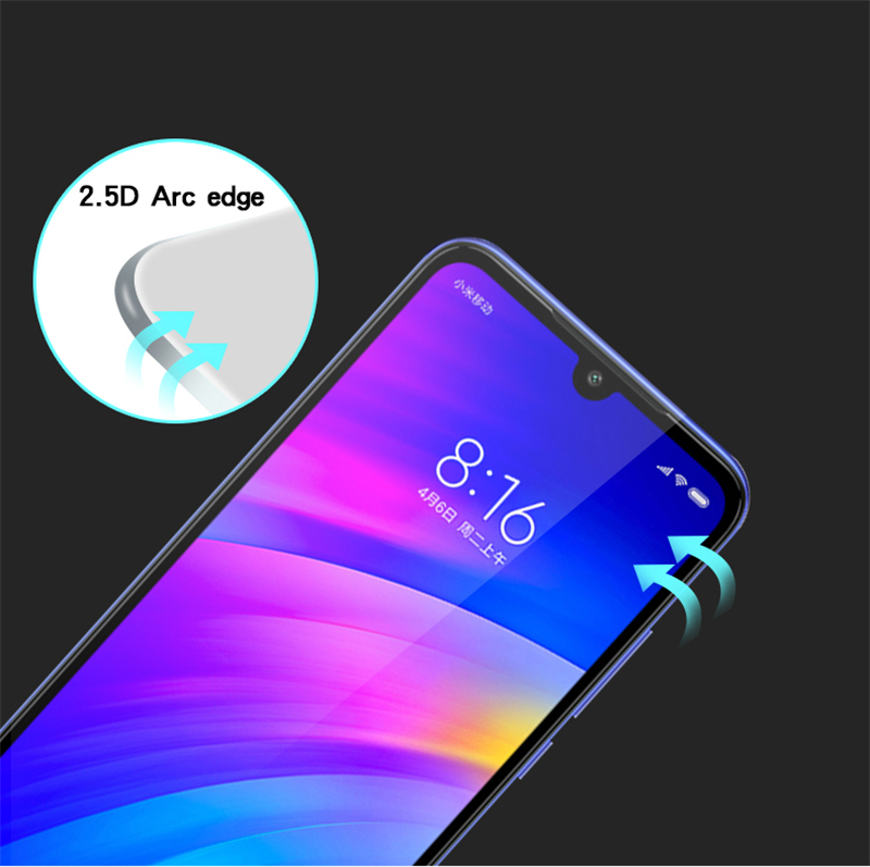 Image 3 - 2PCS Full Glue Glass For Xiaomi Redmi 7 Screen Protector Tempered Glass For Xiaomi Redmi 7 Glass Phone Film For Xiaomi Redmi 7 <-in Phone Screen Protectors from Cellphones & Telecommunications
