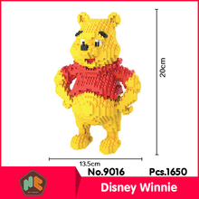 HC9016 1320Pcs Yellow Bear Cartoon Series Without Original Box Building Blocks Diamond Bricks Toys Compatible With LOZ