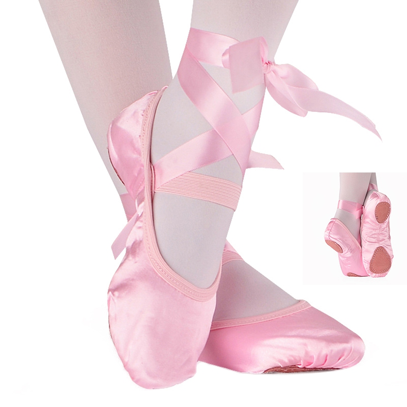 New Adult Ballet Pointe Ballet Dance Shoes Women Professional Satin Latin Ballet Yoga Dancing Shoes with Ribbons Woman