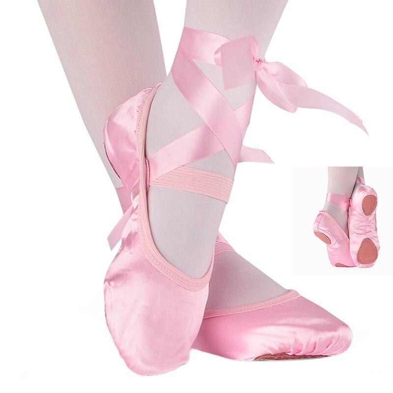 Nuevo adulto Ballet Pointe Ballet zapatos de baile zapatos de las mujeres profesionales de América Latina Ballet Yoga zapatos de baile con cintas de mujer