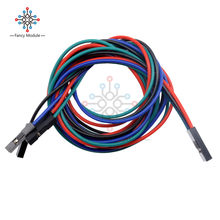 4Pin 70 Cm Set Kabel Female-Female Jumper Kawat UNTUK ARDUINO 3D Printer RepRap(China)