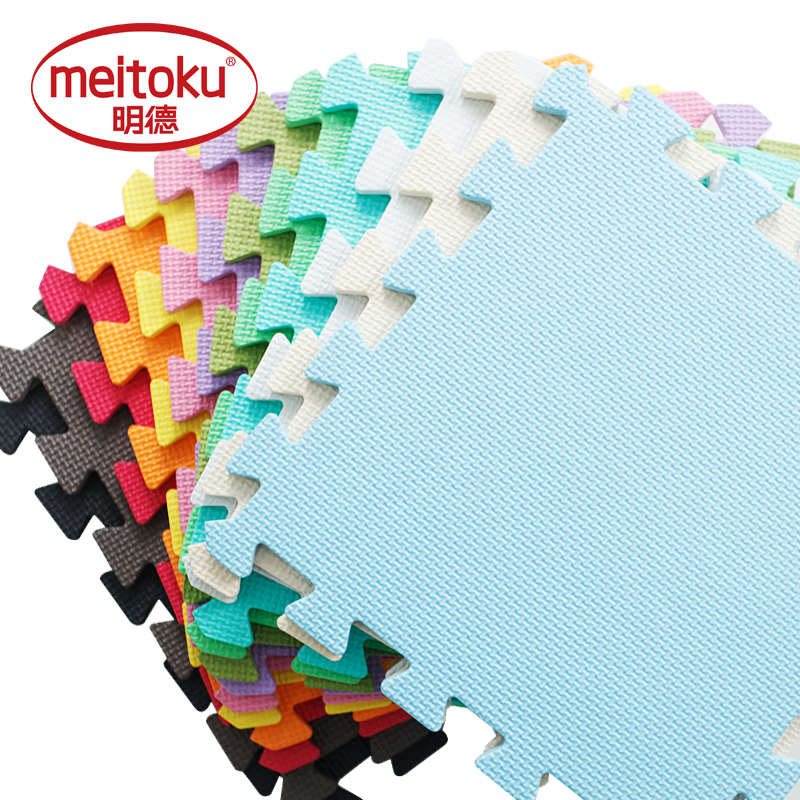Meitoku  Baby EVA Foam Interlocking Exercise Gym Floor Play Mats Rug Protective Tile Flooring Carpets 32X32cm 9 Or 10pcs/lot,
