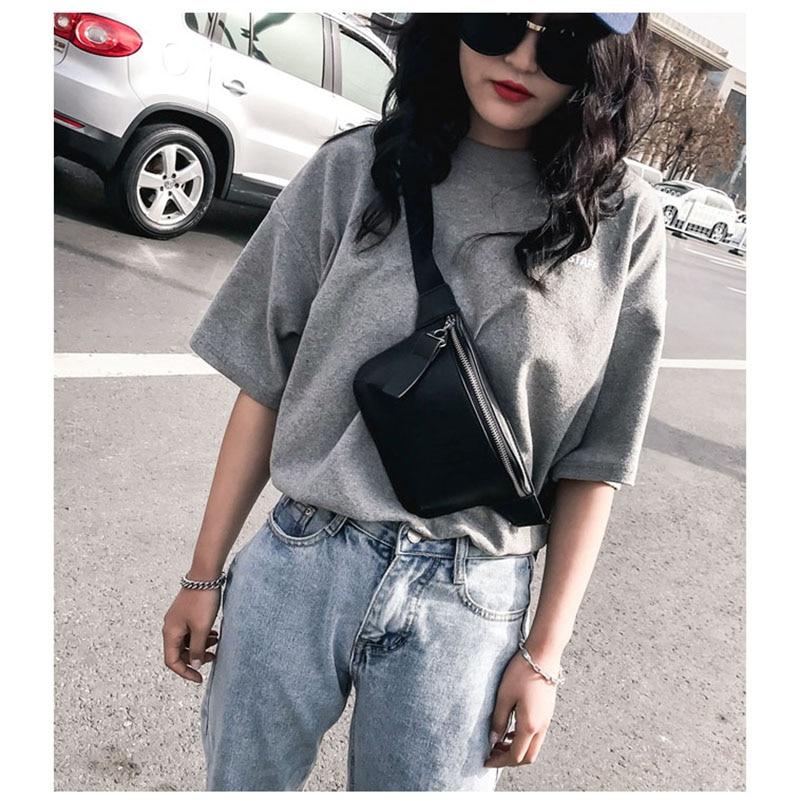 KOVENLY PU Leather Black Waist Bag Women Designer Fanny Pack Fashion Belt Bag Female Mobile Packs Messenger Bags Coin Purse 32