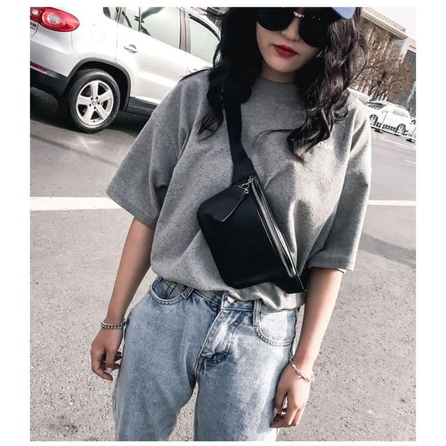 6fbf24376c0 US $8.91 37% OFF|KOVENLY PU Leather black Waist Bag Women Designer Fanny  Pack Fashion Belt Bag Female Mobile Packs Messenger Bags Coin Purse 32-in  ...