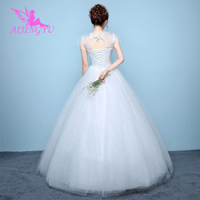 AIJINGYU Dresses Gowns Long Bride Dress Wedding Belt WK788
