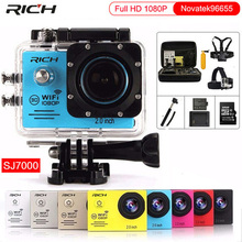 цена на Action camera Full HD 1080P 30FPS Novatek96655 WiFi 2.0 170D Underwater Waterproof Helmet Video Recording Cameras Sport Camera