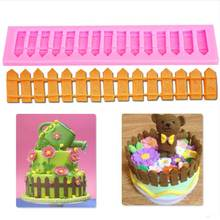 Cake Decorating Tools DIY Fence Silicone Mold Fondant Baking Moulds Pastry Sugercraft