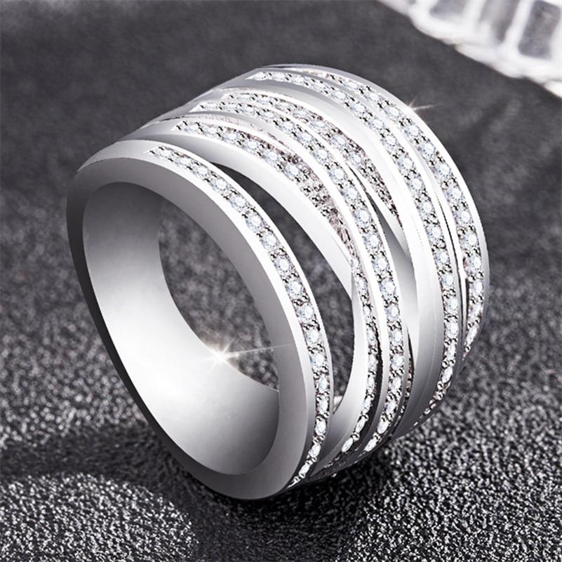 2019 14k White Gold Diamond Zircon Ring For Women Peridot Diamante Gemstone Bizuteria Anillos De Wedding Jewelry Engagement Ring