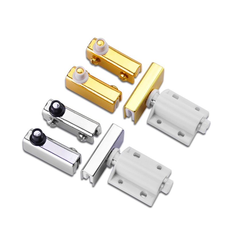 Brand New 100Pieces Glass Door Pivot Hinges Cabinet Clamps Clips For 3-5mm Free Swinging Doors