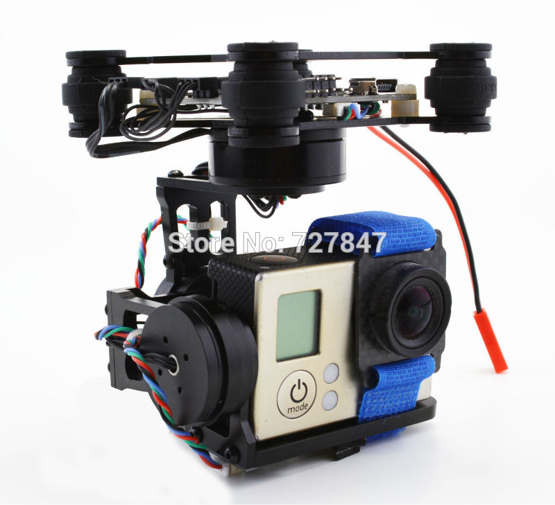 RTF 3 Axis 3Axis Brushless Gimbal / 2204 2208 160kv Motor / Storm32 Controlller for Gopro 2 3 Walkera X350 walkera g 2d camera gimbal for ilook ilook gopro 3 plastic version