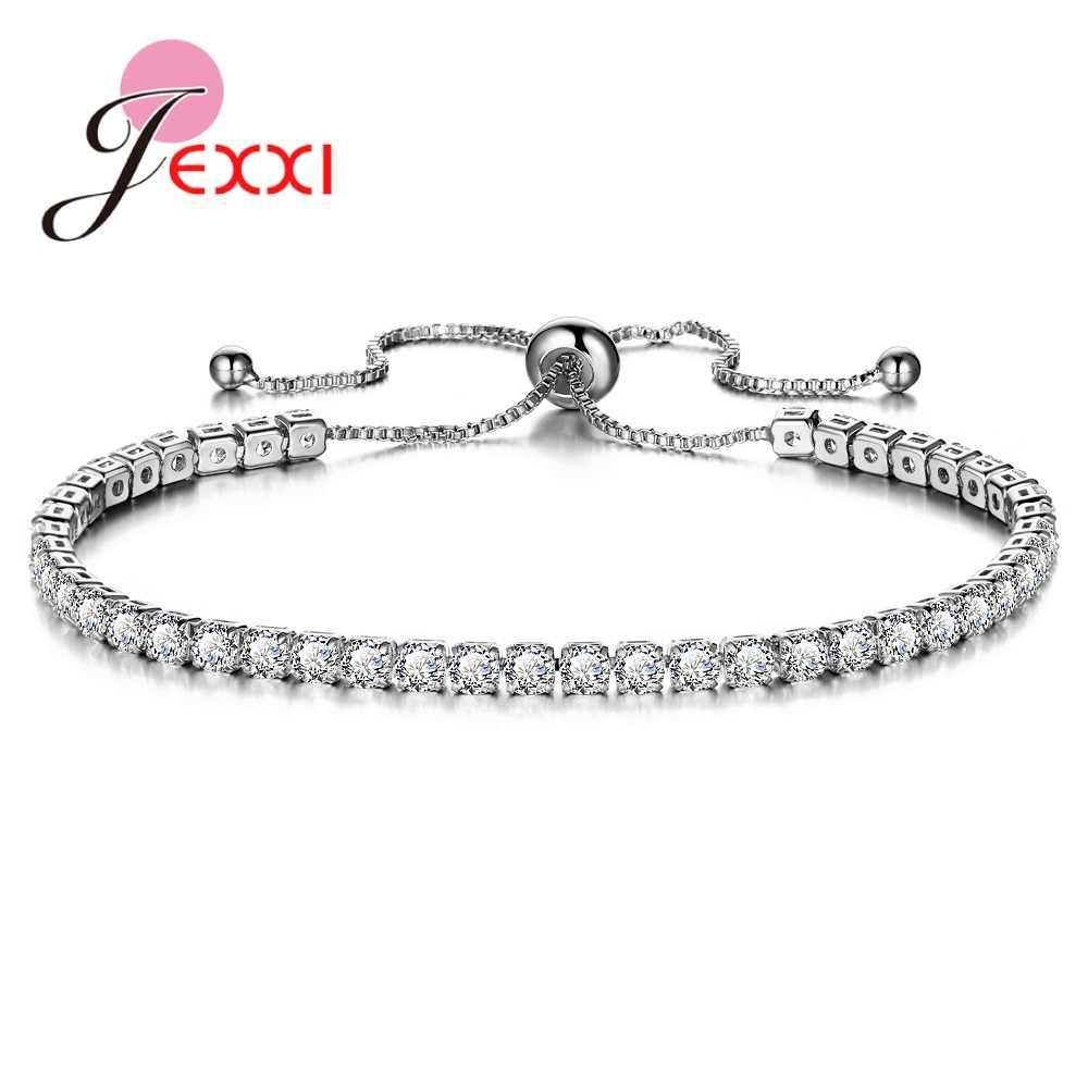 Fashion Shiny 925 Sterling Silver Bracelet Bangles Pave Full 3A Cubic Zircon Crystal Brilliant Wedding Birthday Anniversary Gift