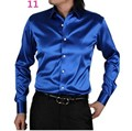 Men Dress Shirt Custom Casual Suits Silk Satin Long sleeve Casual shirts fashion style Groom Shirts Multicolor optional