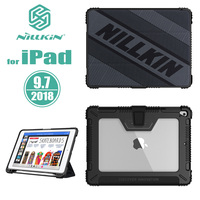 for iPad 9.7 2018 Case Nillkin Speed TPU Full Cover Flip Leather Case for Apple Pencil Holder for Apple iPad 9.7 2017 Back Cover