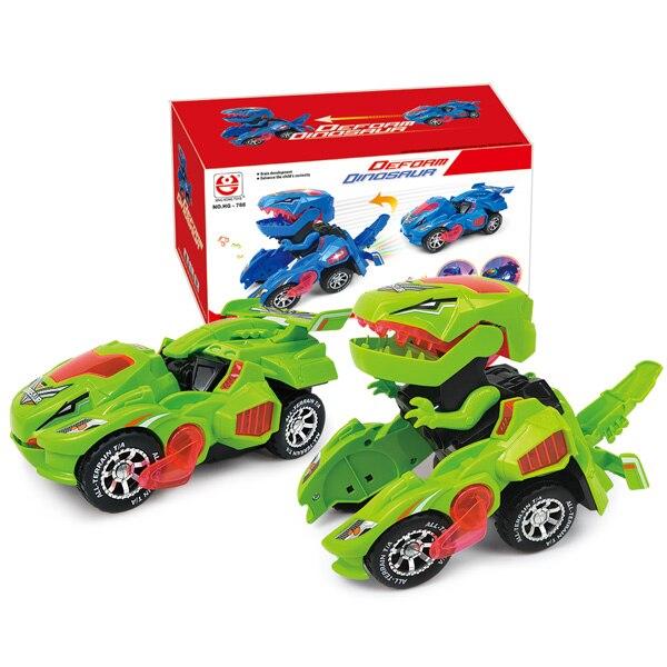 6 шт 6 стилей высокое качество детский день подарок игрушка динозавр модель мини игрушка автомобиль назад автомобиля подарок грузовик хобби - Цвет: dinosaur car