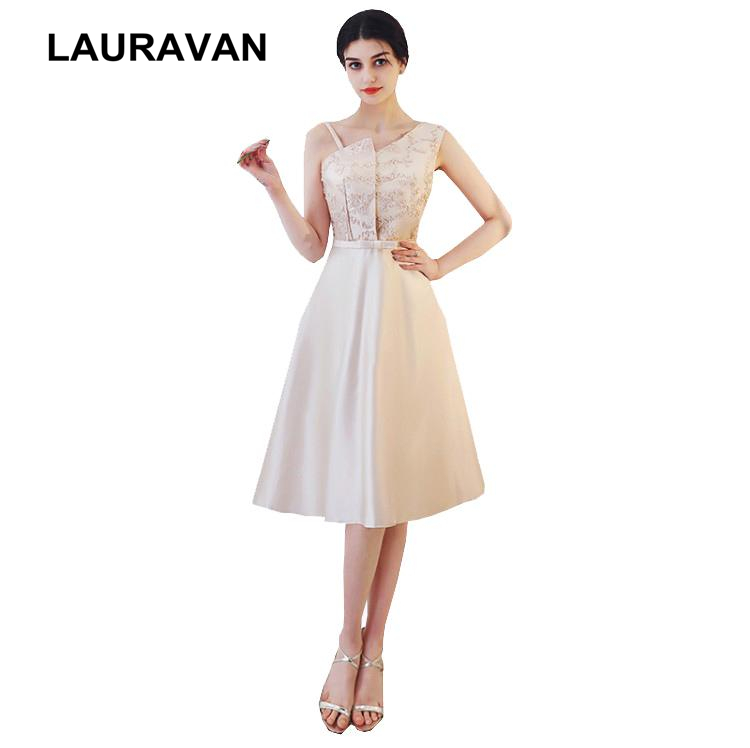Formal Gown Short Champagne Bridemaids Bridal Women Party Dress One Shoulder Tee Length Bridemaid Dresses For Weddings Xxl