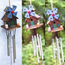 Antiguo increíble cabaña de troncos resonancia profunda 8 tubo Windchime las campanas de la Iglesia campanas de viento decoración de hogar para colgar en la pared