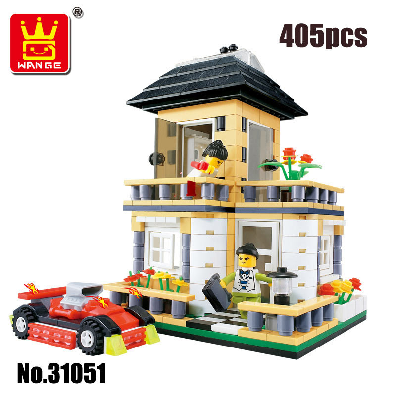 Wange Building Blocks City House Villa Assembled Model High Quality Plastic Inserted DIY Toys