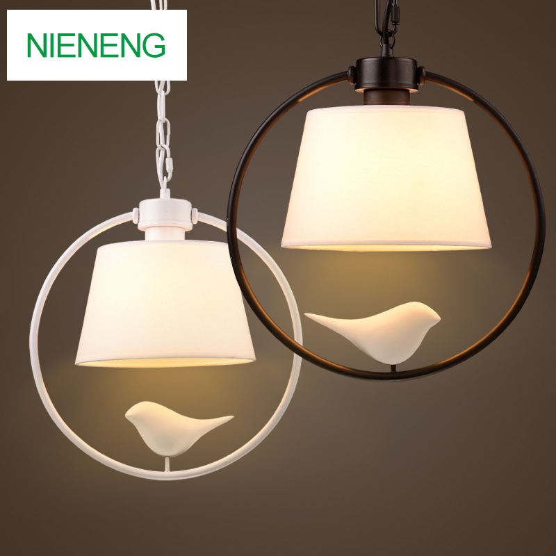 Nieneng Pendant Lights Cute Bird Dining Room Pendant Lamps Modern Restaurant Coffee Bedroom Lighting E27 Bulb ICD60304 new bird nest lighting modern dining room galss pendant light bedroom lamps pendant lamp 2016zzp