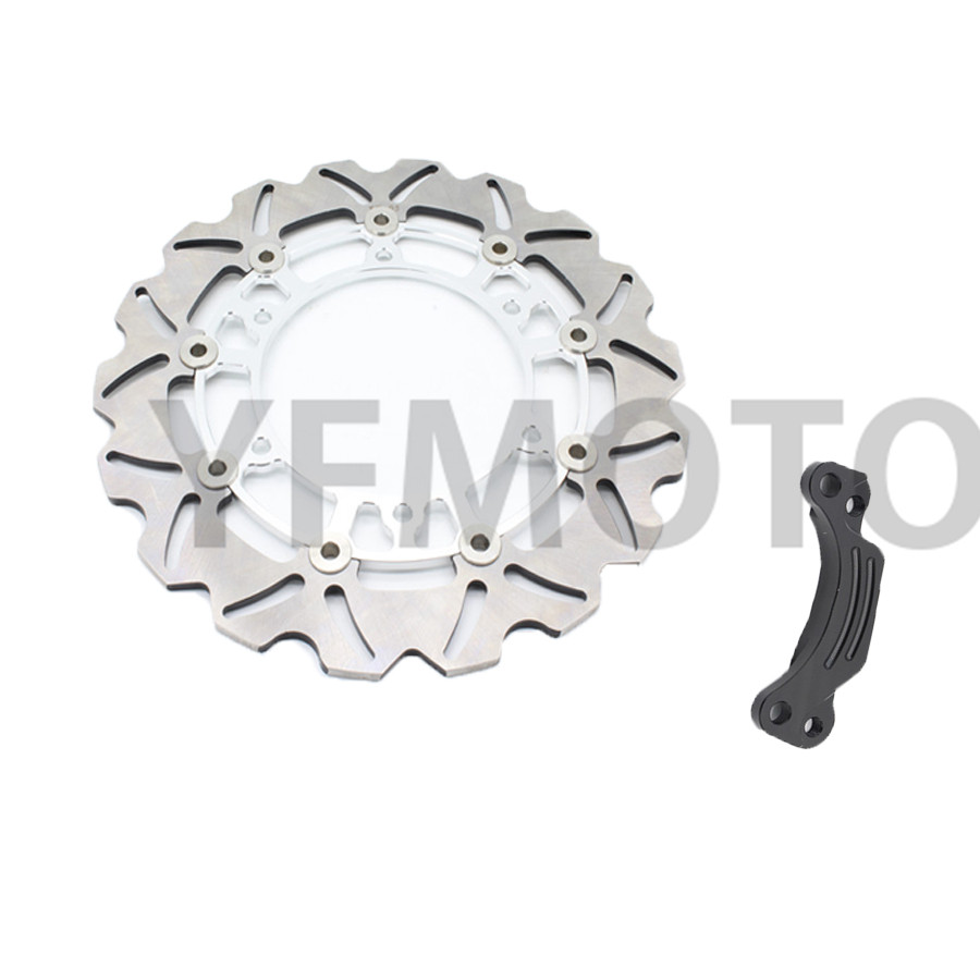 1 Pcs Motorcycle Rear Brake Disc Rotor For TMAX500 TMAX 500 2008- 2013 09 10 11 12  White  Steel Hot Sales 1 pcs motorcycle rear brake disc rotor for tmax500 tmax 500 2008 2009 2010 2011 2012 2013 red free shipping