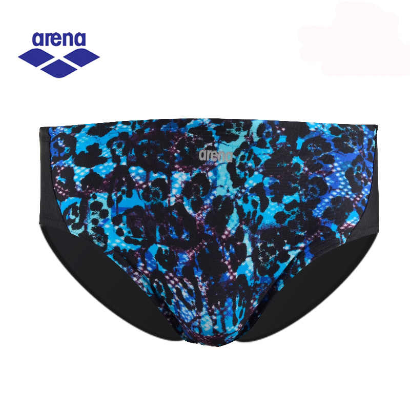 Arena New Arrival Mens Swimming Briefs Serpentine Printed Sex Competition Boxer Soft Farbic